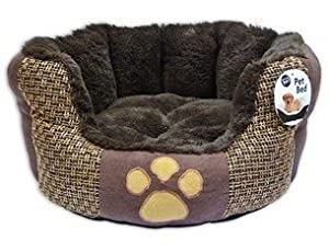 Medium Cat or Dog Bed Brown from World of Pets