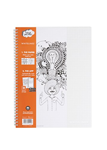 Whitelines WL101 Link A4 Squared Notebook, 80 g Papier, 60 Blatt FSC