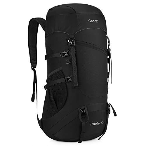 Gonex 45l zaino da trekking pieghevole impermeabile zaino leggero in nylon per viaggio trekking campeggio escursionismo outdoor sport