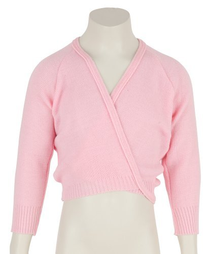 Girls Pink dance Ballet Crossover Cardigan Wrap All Ages by katz Dancewear Test
