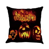 SEWORLD Happy Halloween Kissenbezüge Leinen Sofa Kissenbezug Home Decor I