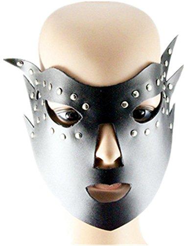 Einfach Wirklich Superheld Kostüm - Qiu ping Herren & Damen New Punk Leder Masken Fashion Jewelry Masken