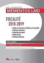 Fiscalité 2018-2019 de Thierry Lamulle
