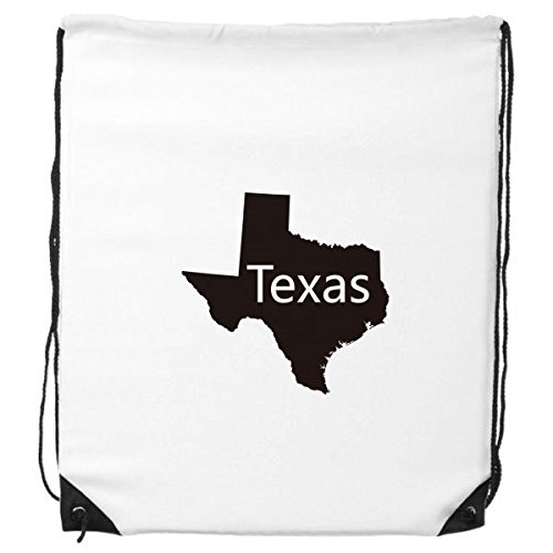DIYthinker Texas The United States of America USA Map Silhouette Kordelzug Rucksack feine Linien Einkaufen Kreative Handtasche Geschenk Schulter Umweltbeutel Polyester Tasche -