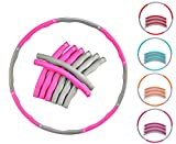 (Pink - Grey) - EVER RICH FitnessWave Weighted Fitness Exercise Hula Hoop