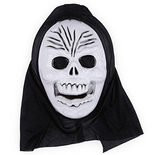 PromMask Masken Gesichtsmaske Gesichtsschutz Domino falsche Front Halloween Aprilscherz-Tagesmake-up Make-upball Maske B