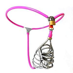 Keuschheitskäfig für Männer, Silikon, größenverstellbar, Pink