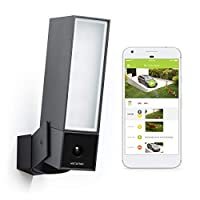 Netatmo Smart Outdoor Security Camera, WIFI, Integrated Floodlight, Movement Detection, Night Vision, Without Fees, NOC01-UK (Presence)