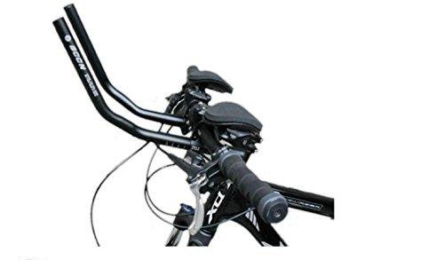 Aluminio manillar bicicleta de carreras TT resto Bar Tiempo conducción/Triathlon bicicleta manillar, color negro