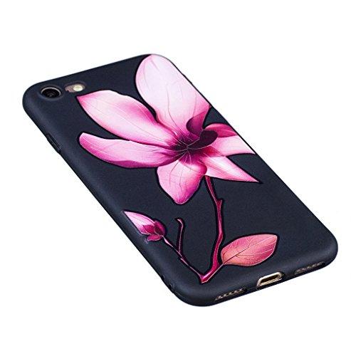 Apple iPhone 7 (4.7 inch) Hülle, SATURCASE Schönes Muster Bas-relief Ultra Dünn Weich TPU Gel Silikon Schützend Zurück Case Cover Handy Tasche Schutzhülle Handyhülle für Apple iPhone 7 (4.7 inch) (Mus Muster-7