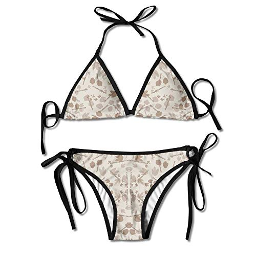 c9c88841f1b23 Women s Sexy Bikini Set Everybody Do The Dinosaur Fabric Custom Tie 2 Piece  Bikini Suits Pushed