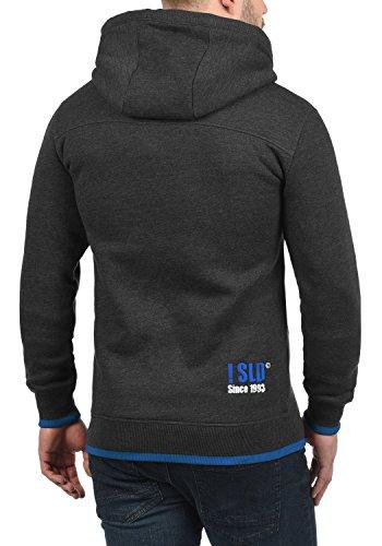 SOLID BenjaminHood Herren Kapuzenpullover Hoodie Sweatshirt mit optionalem Teddy-Futter aus hochwertiger Baumwollmischung Meliert Dark Grey Melange (8999)