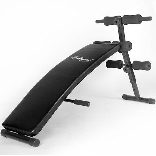 Bauchtrainer Sit-up Bank klappbar + verstellbar inkl. gepolsterte Beinfixierung
