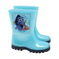 Finding Dory Nemo Character Print Glitter Ridged Sole Winter Wellington Boots Blue Uk4