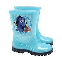 Finding Dory Nemo Character Print Glitter Ridged Sole Winter Wellington Boots Blue Uk6 Eur23