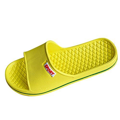 Unisex Liebhaber Bunt Gummi Badeschlappen im pool Badelatschen Pantoffeln ikea Strandschuhe Damen Herren Badeschuh Gelb