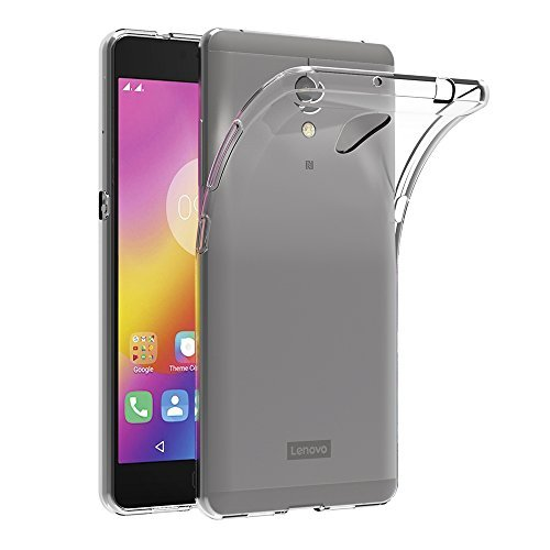 M.G.R.J Ultra Thin 0.3mm Clear Transparent Flexible Soft TPU Slim Back Case Cover for Lenovo P2