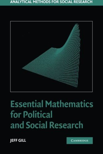 Essential Mathematics for Political and Social Research (Analytical Methods for Social Research): Written by Jeff Gill, 2006 Edition, Publisher: Cambridge University Press [Paperback]