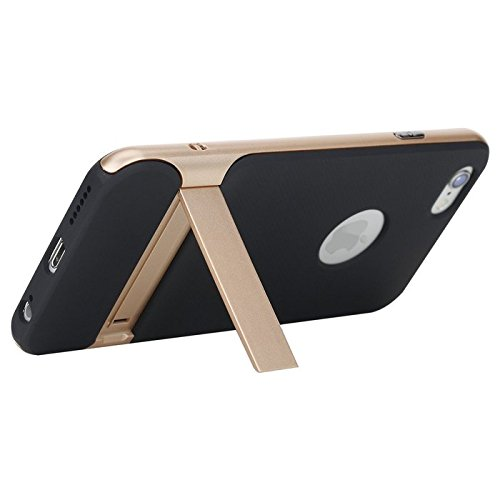 ROCK Royce-III Series Shockproof Dual Layer Back Case Cover with Stand for Apple iPhone 6 Plus / 6S Plus - Gold