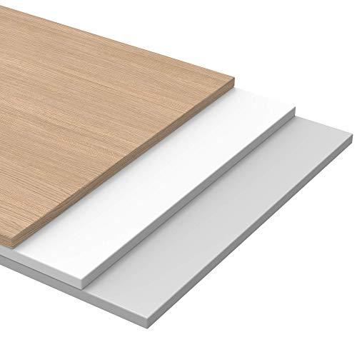 boho möbelwerkstatt Do IT Yourself Tischplatte Holzplatte Schreibtischplatte 160 x 80 x 2.5 cm in Arogan Eiche mit Hoher Kratzfestigkeit und 120 kg Belastbarkeit