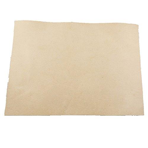 pomcat natur gegerbte Leder Stück 29,5x 15,7cm für Mantel Tooling Wet Zierleiste (Tooling Leder Stück)