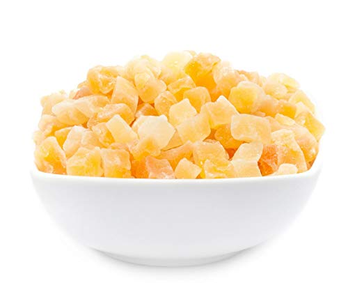 CrackersCompany 'Melon Cube' (1 x 600g in ZIP Beutel) Getrocknet und kandierte Melonenwürfel - Fruchtig kandierte Melonenwürfel, leicht gezuckert (Gezuckerte Künstliche Früchte)