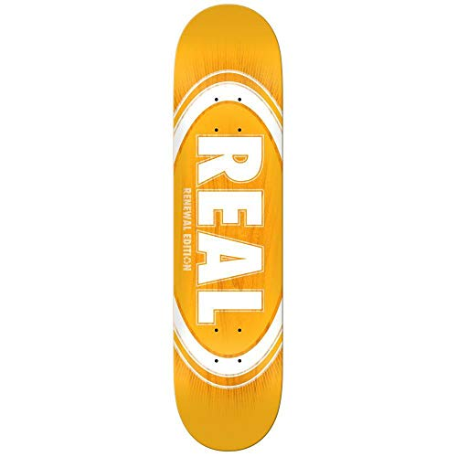 1493f55b42f26 Real Skateboards Oval Burst Skateboard Deck Fade Orange 8.06