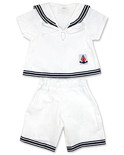 Devil Dagger Sailor Kid Set for Boys, TM, 2 Pieces, Shirt and Shorts, (L, 5-6 Years) Butterfly Pant Set