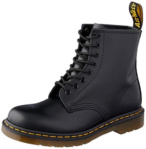 Dr. Martens Unisex-Erwachsene 1460 Klassische Stiefel, Schwarz (Black Smooth), 43 EU