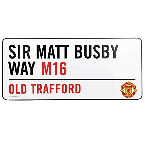 Scopri offerta per MUFC Cartello Stradale Ufficiale del Manchester United Old Trafford, 40 cm x 18 cm