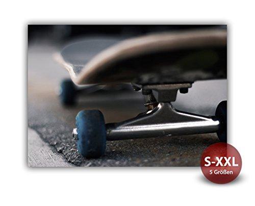 Printalio - Skateboard Detail - Fotodruck, Kunstdruck auf Alu-Dibond-Platte   Hochwertiges Wandbild mit Matter Beschichtung   100 cm x 70 cm