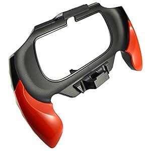 Pandaren® PS Vita Slim PSV 2000 schlanken Handgriff Schutzhülle mit eingebautem Rücken Stand Design (rot)