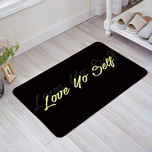 Nursery Rugs Area Rugs 23.6x15.7 inch Soft Non-Slip Floor Mats Light Abstract Black And White Structure Night no Pilling and Fading Doormat Carpet for Bedroom Decoration