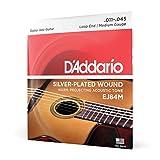 D'Addario Cordes pour guitare acoustique jazz manouche D'Addario EJ84M, extrémité à boucle, Medium, 11-45