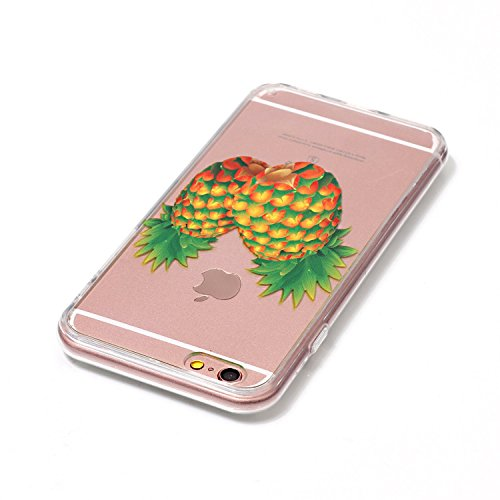 iPhone 6 Silicone Case,iPhone 6S Coque - Felfy Coque Souple Transparente TPU Silicone en Gel Case Premium Ultra-Light Ultra-Mince Skin de Protection Pare-Chocs Anti-Choc Bumper pour Apple iPhone 6/6S  Ananas Coque