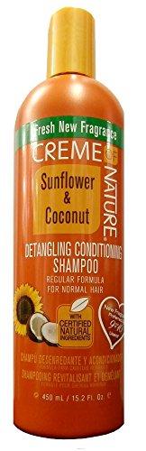Kopfhaut Conditioning Creme (Creme of Nature Sunflower & Coconut Detangling Conditioning Shampoo 450ml)