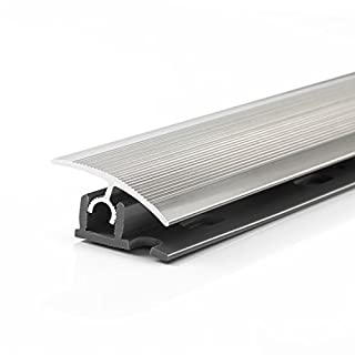 Aluminum flooring profile 900mm x 34mm screw/push and click montage colour: polished steel – different colours available