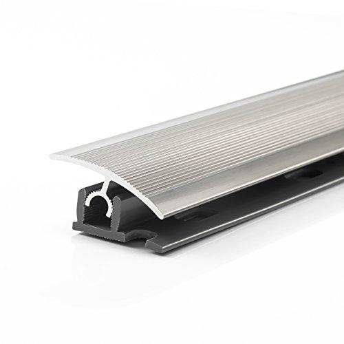 40 x 1000 mm mitte gebohrt, matt geschliffen Edelstahl /Übergangsprofil mitte gebohrt 40 x 1000 mm matt geb/ürstet inkl Montageset