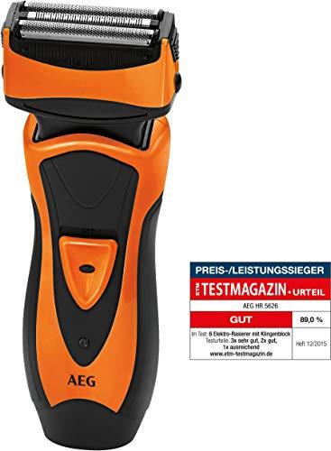 AEG HR 5626 - Afeitadora eléctrica, color negro y naranja
