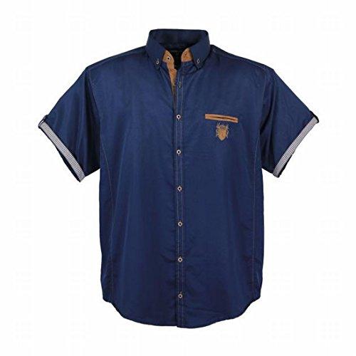 Lavecchia Herren Freizeithemd Kurzarm bis 7XL Hemd Blauer Kragen Übergrößen  Oberhemd Marine Navy Blau Modern mit e9cc0409b9