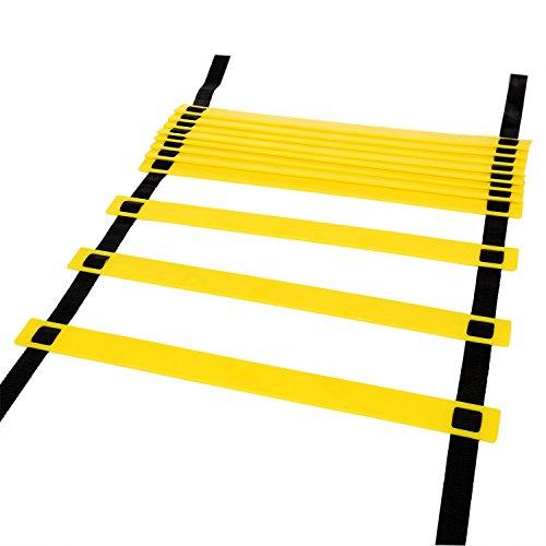 Ancheer 11Rung 4M dauerhafte Koordinationsleiter Trainingsleiter Geschwindigkeit Leiter Agility Ladder für Fußball, Geschwindigkeit, Fußball Fitness Füße Training