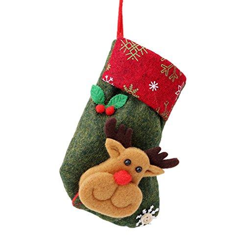 Elistelle Nikolaussocke Weihnachts Socke Geschenk Tasche für Kinder Weihnachten Deko