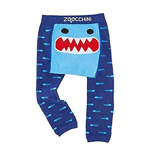 Zoocchini zo-12501-6-12m Juego Leggings y calcetines antideslizante, Tiburón, 6-12meses