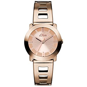 s.Oliver SO-2917-MQ Ladies Watch XS Analogue Quartz Stainless Steel Coated