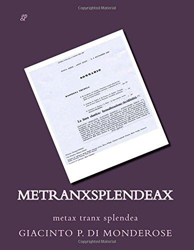 metranxsplendeax: metax tranx splendea: Volume 5 (eventuax)