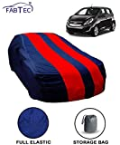 #8: Fabtec Red & Blue Car Body Cover for Chevrolet Beat with Storage Bag Combo!