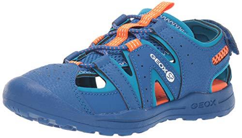 Geox VANIETT Boy J925XA Jungen Trekking Sandalen,Kinder Outdoor-Sandale,Sport-Sandale,Geschlossener Zehenbereich,Royal/Orange,35 -