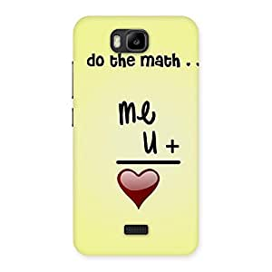 Cute Love Maths Back Case Cover for Honor Bee