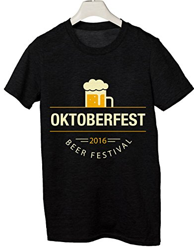 Tshirt oktoberfest - beer festival - festa della birra 2016 - Tutte le taglie by tshirteria Nero