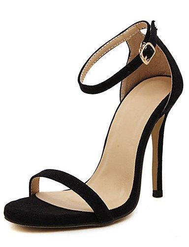 WSS 2016 Chaussures Femme-Décontracté-Noir / Rouge / Blanc / Or / Nu-Talon Aiguille-Talons-Talons-Polyuréthane black-us6 / eu36 / uk4 / cn36